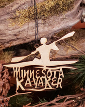 Load image into Gallery viewer, Minnesota Kayaker Ornament