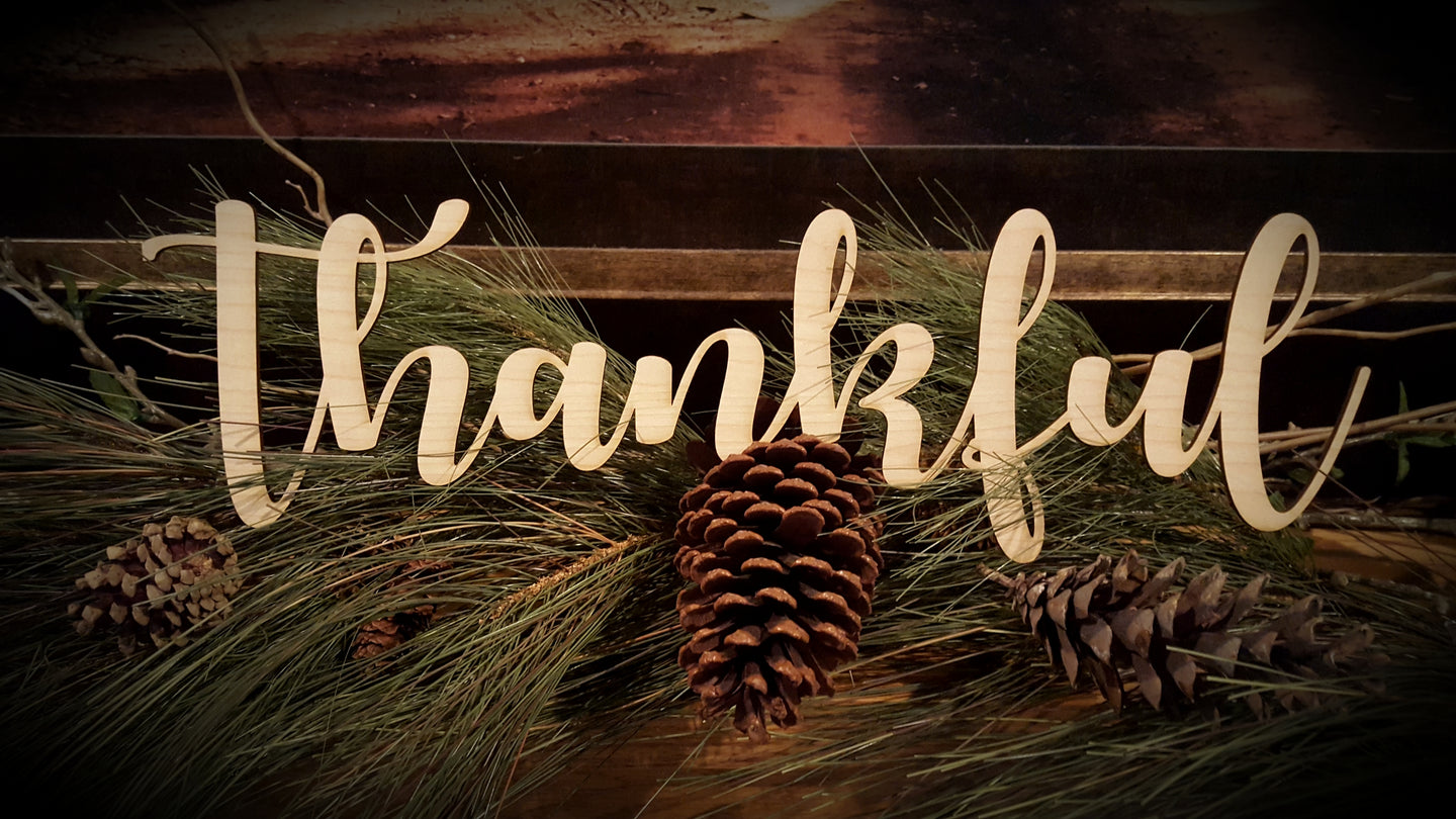 THANKFUL  - Word Cutout
