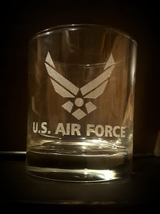 U.S. AIR FORCE - Glass Low Ball - Set of 4
