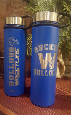 BECKER BULLDOG WRESTLING WATER BOTTLE