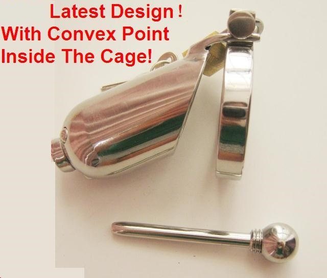 Stainless Steel Penis Cage with Catheter - amerigodeutero