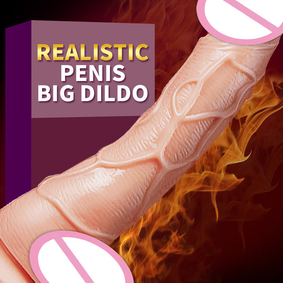 New Skin Feel Vibrating Realistic Penis Super Huge Big Dildo With Suction Cup  Sex Toys