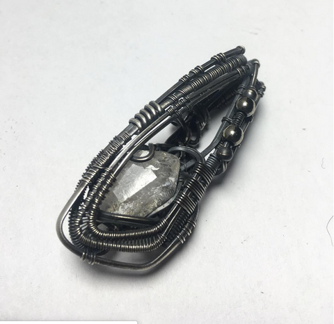 Silver Wire Wrap with Quartz
