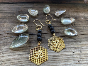Flower of Life Diffuser Earrings