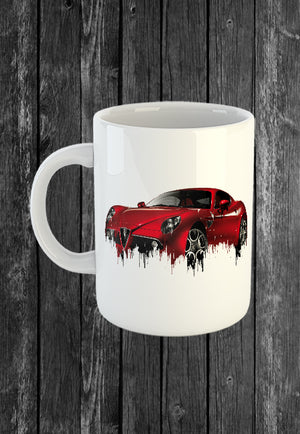 Exclusive Handmade Mug Alfa Romeo 8c | Mugs With Sayings, Personalised Gifts, Presents, Drinkware, Kitchen, Liquid Metal