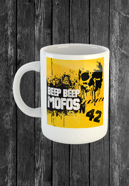 Exclusive Handmade Mug Beep Beep MOFOs | Mugs With Sayings, Personalised Gifts, Presents, Drinkware, Kitchen, Chest Candy