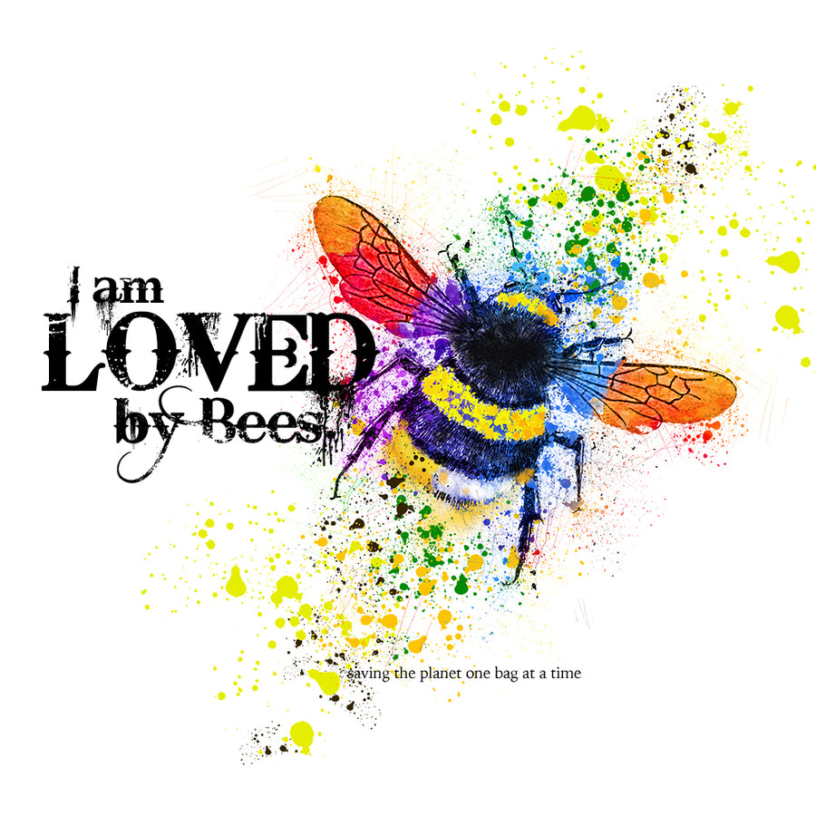 I Am Loved By Bees EcoBag Canvass