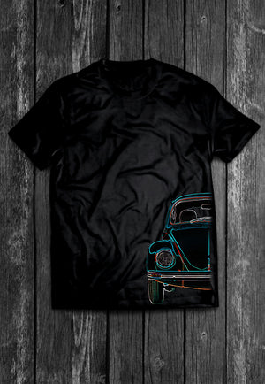 VW Volkswagon Vdub Beetle Half Car | Tshirt, Tshirt Men, Tshirt Women, Custom T, Bespoke T-shirt, Apparel, Clothing