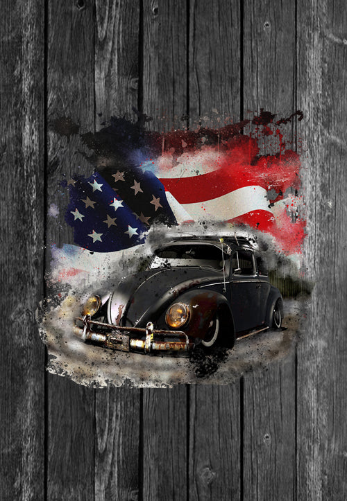 Exclusive VW Mug Volkswagon Vdub Beetle USA Flag | Mugs With Sayings, Personalised Gifts, Presents, Drinkware, Kitchen, Chest Candy