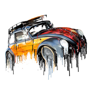 VW Volkswagon Vdub Beetle Liquid Metal | Tshirt, Tshirt Men, Tshirt Women, Custom T, Bespoke T-shirt, Apparel, Clothing