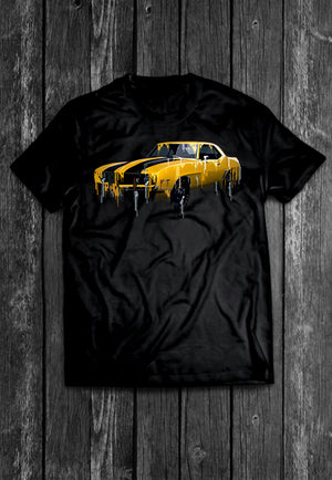 Chevrolet 69 Camaro Liquid Metal | Tshirt, Tshirt Men, Tshirt Women, Custom T, Bespoke T-shirt, Apparel, Clothing