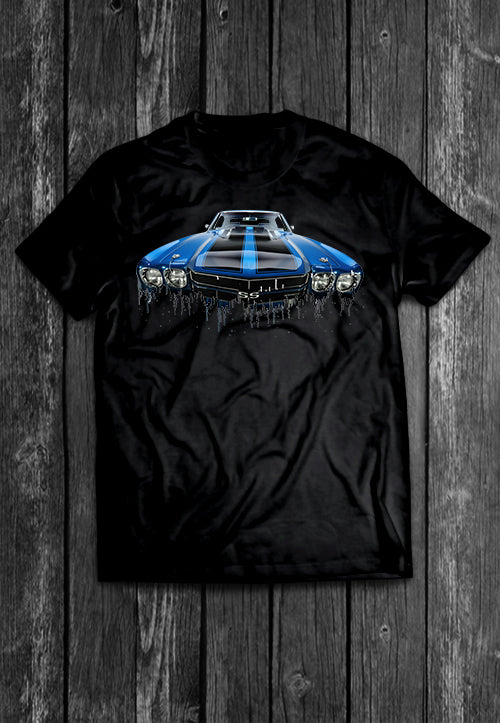Chevrolet Chevelle Liquid Metal | Tshirt, Tshirt Men, Tshirt Women, Custom T, Bespoke T-shirt, Apparel, Clothing