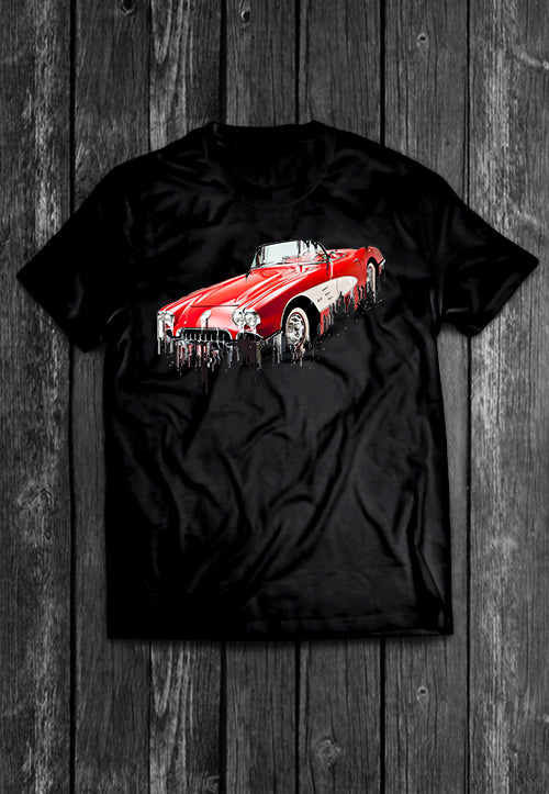 Chevrolet Corvette Liquid Metal Tshirt