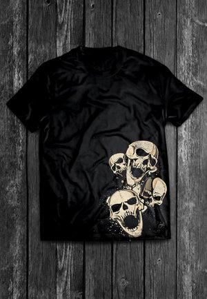 Decrepit Skulls Chest Candy | Tshirt, Tshirt Men, Tshirt Women, Custom T, Bespoke T-shirt, Apparel, Clothing