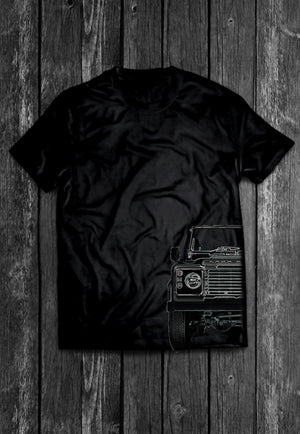 Landrover Defender Half Car 4x4 | Tshirt, Tshirt Men, Tshirt Women, Custom T, Bespoke T-shirt, Apparel, Clothing