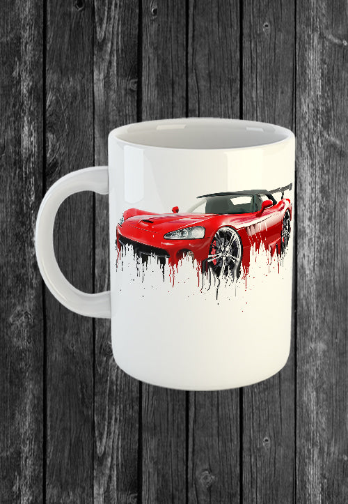 Exclusive Handmade Mug Dodge Viper | Mugs With Sayings, Personalised Gifts, Presents, Drinkware, Kitchen, Liquid Metal