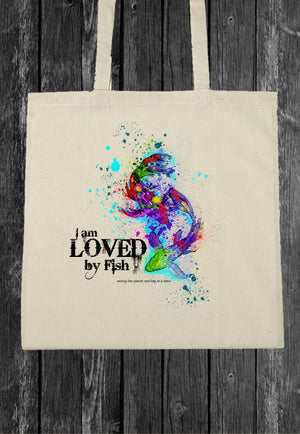 I Am Loved By Fish EcoBag Canvass