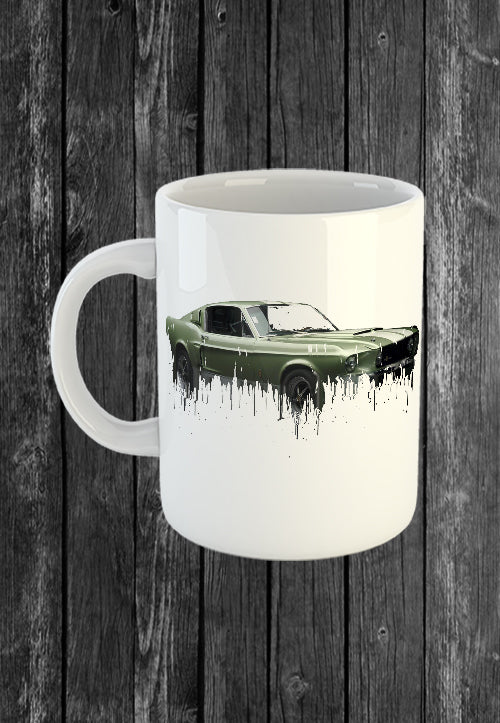 Exclusive Handmade Mug Ford Mustang | Mugs With Sayings, Personalised Gifts, Presents, Drinkware, Kitchen, Liquid Metal