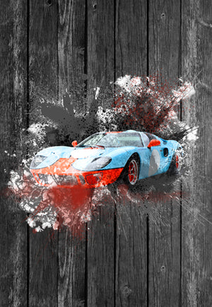 Ford GT40 Street Art | Tshirt, Tshirt Men, Tshirt Women, Custom T, Bespoke T-shirt, Apparel, Clothing