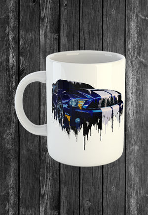 Exclusive Handmade Mug Ford Mustang GT 500 | Mugs With Sayings, Personalised Gifts, Presents, Drinkware, Kitchen, Liquid Metal