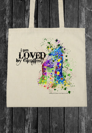 I Am Loved By Giraffes EcoBag Canvass