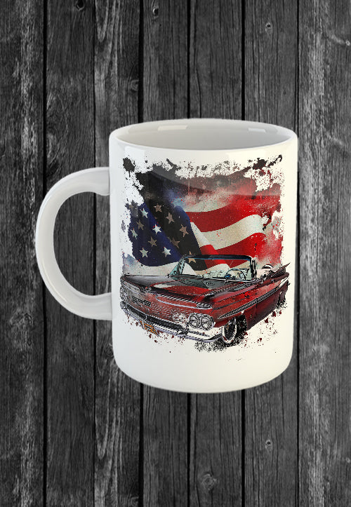 Exclusive Handmade Mug Chevrolet Impala USA Flag | Mugs With Sayings, Personalised Gifts, Presents, Drinkware, Kitchen, Chest Candy