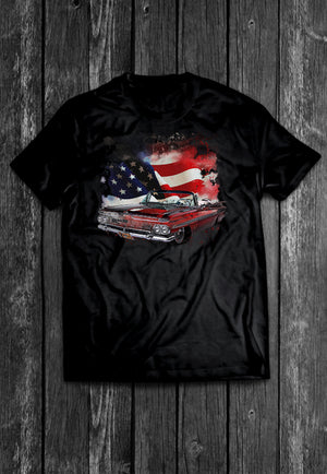 Chevrolet Impala USA Flag Chest Candy | Tshirt, Tshirt Men, Tshirt Women, Custom T, Bespoke T-shirt, Apparel, Clothing