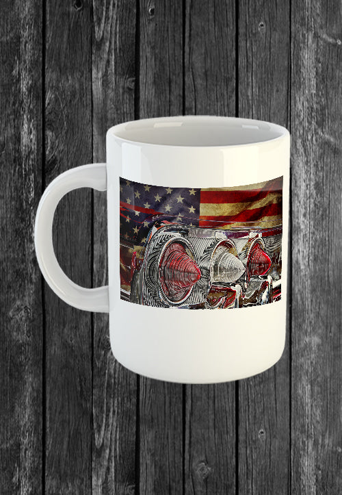 Exclusive Handmade Mug Chevrolet Impala Lights USA Flag | Mugs With Sayings, Personalised Gifts, Presents, Drinkware, Kitchen, Chest Candy
