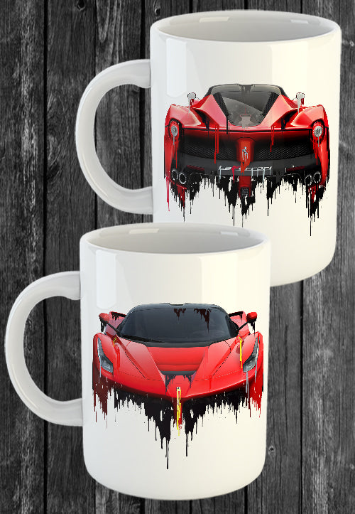 Exclusive Handmade Mug Ferarri LaFerrari | Mugs With Sayings, Personalised Gifts, Presents, Drinkware, Kitchen, Liquid Metal