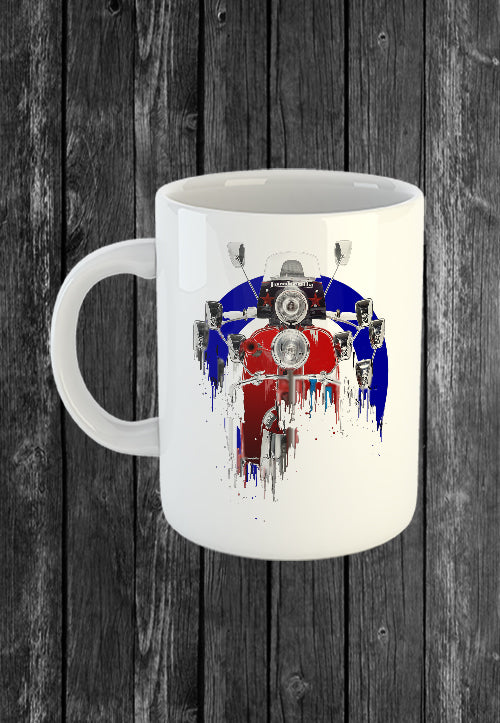 Exclusive Handmade Mug Lambretta Scooter | Mugs With Sayings, Personalised Gifts, Presents, Drinkware, Kitchen, Liquid Metal