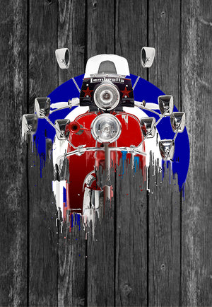 Lambretta Scooter Motorcycle Liquid Metal | Tshirt, Tshirt Men, Tshirt Women, Custom T, Bespoke T-shirt, Apparel, Clothing