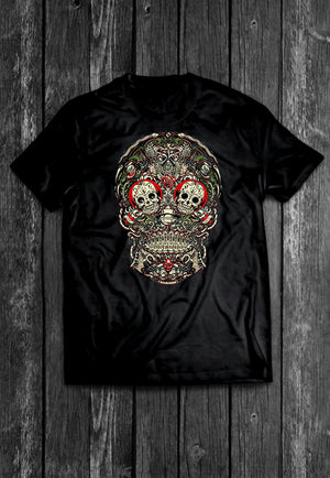 Sugar Skull Los Muertos Chest Candy | Tshirt, Tshirt Men, Tshirt Women, Custom T, Bespoke T-shirt, Apparel, Clothing
