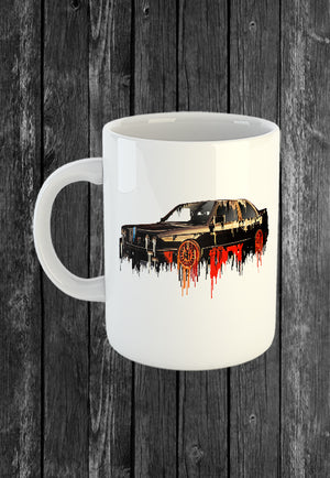 Exclusive Handmade Mug BMW M3 | Mugs With Sayings, Personalised Gifts, Presents, Drinkware, Kitchen, Liquid Metal