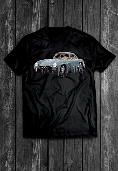 Mercedes 300 Liquid Metal | Tshirt, Tshirt Men, Tshirt Women, Custom T, Bespoke T-shirt, Apparel, Clothing
