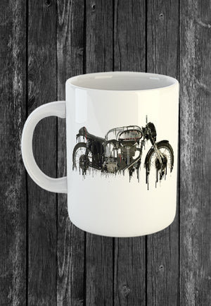 Exclusive Handmade Mug Norton Motorcycle | Mugs With Sayings, Personalised Gifts, Presents, Drinkware, Kitchen, Liquid Metal