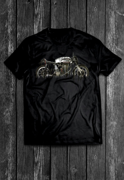 Norton Motorcycle Liquid Metal | Tshirt, Tshirt Men, Tshirt Women, Custom T, Bespoke T-shirt, Apparel, Clothing