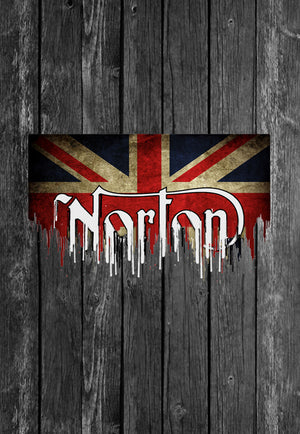 Norton UK Flag Motorcycle Chest Candy | Tshirt, Tshirt Men, Tshirt Women, Custom T, Bespoke T-shirt, Apparel, Clothing