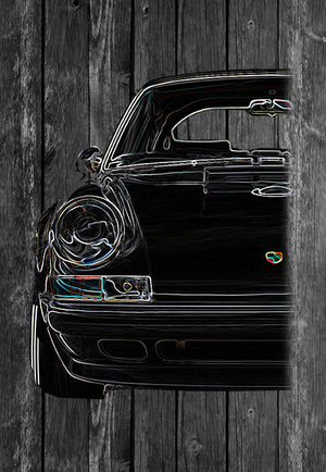 Porsche 911 RS Half Car | Tshirt, Tshirt Men, Tshirt Women, Custom T, Bespoke T-shirt, Apparel, Clothing