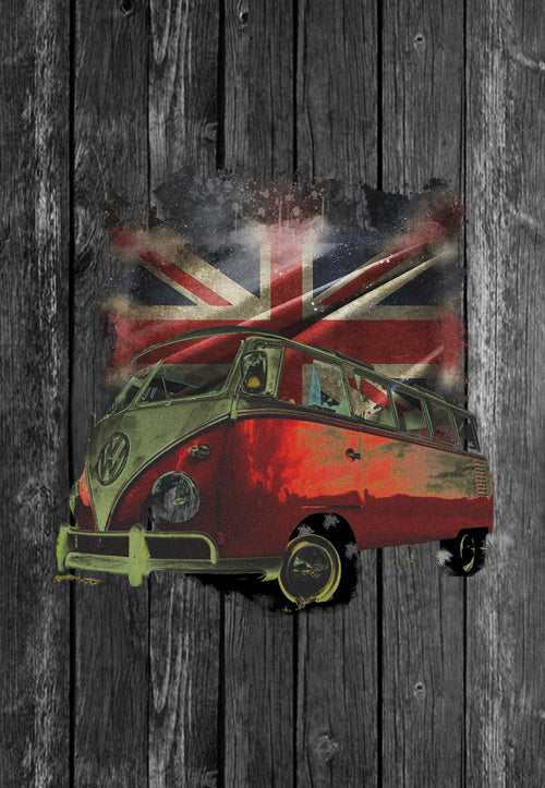 VW Mug Volkswagon Vdub Samba Camper Kombi UK Flag | Mugs With Sayings, Personalised Gifts, Presents, Drinkware, Kitchen, Chest Candy