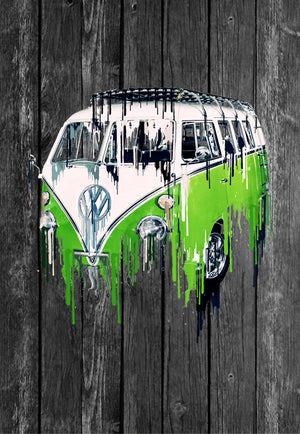 VW Volkswagon Vdub Samba Camper Kombi Liquid Metal | Tshirt, Tshirt Men, Tshirt Women, Custom T, Bespoke T-shirt, Apparel, Clothing