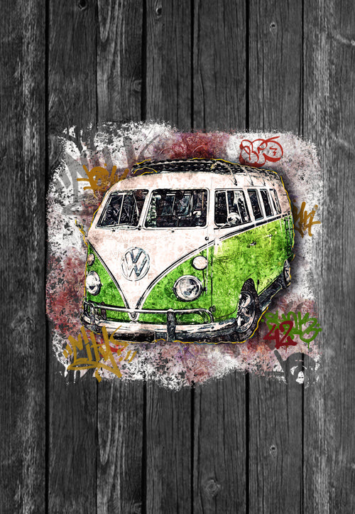 VW Volkswagon Vdub Samba Camper Kombi Street Art | Tshirt, Tshirt Men, Tshirt Women, Custom T, Bespoke T-shirt, Apparel, Clothing