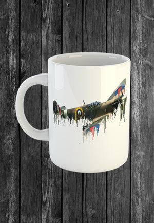 Exclusive Handmade Mug Spitfire Areoplane | Mugs With Sayings, Personalised Gifts, Presents, Drinkware, Kitchen, Liquid Metal