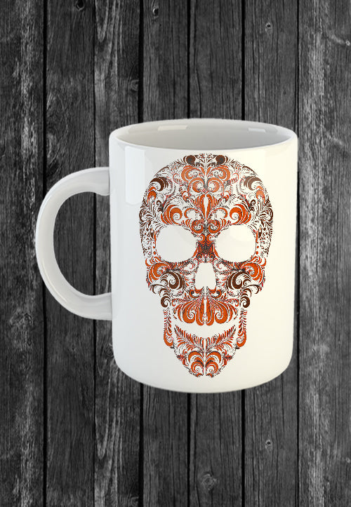 Exclusive Handmade Mug Sugar Skull | Mugs With Sayings, Personalised Gifts, Presents, Drinkware, Kitchen, Chest Candy