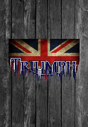 Exclusive Handmade Mug Triumph Motorcycle UK Flag  | Mugs With Sayings, Personalised Gifts, Presents, Drinkware, Kitchen, Chest Candy