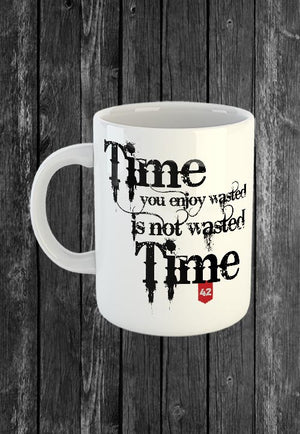 Exclusive Handmade Mug Time Wasted | Mugs With Sayings, Personalised Gifts, Presents, Drinkware, Quotes, Chest Candy