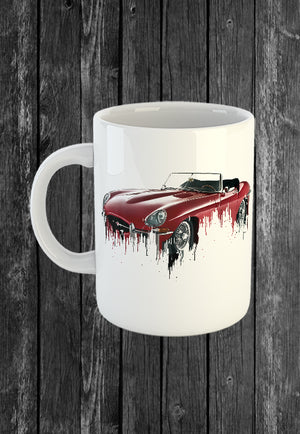 Exclusive Handmade Mug Jaguar Etype | Mugs With Sayings, Personalised Gifts, Presents, Drinkware, Kitchen, Liquid Metal