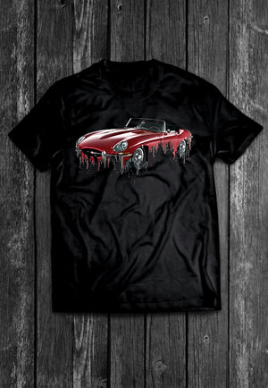 Jaguar E Type Liquid Metal Tshirt