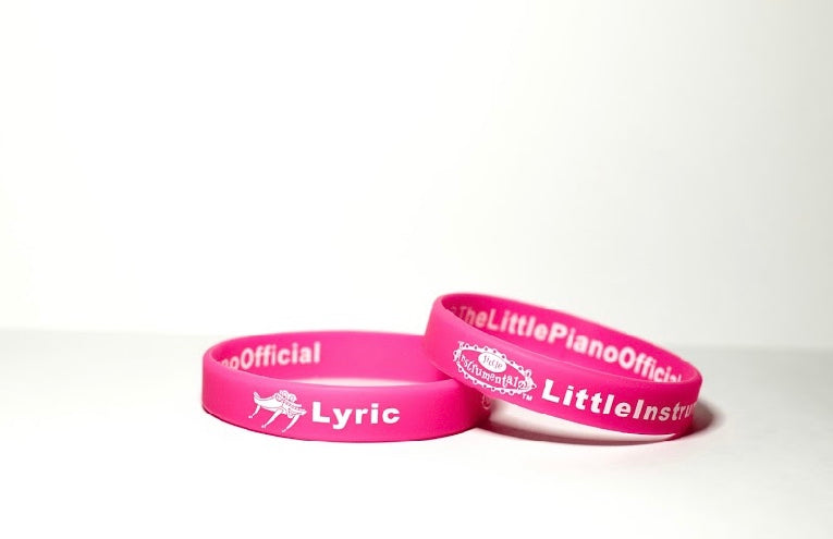 Pink Lyric wrist band