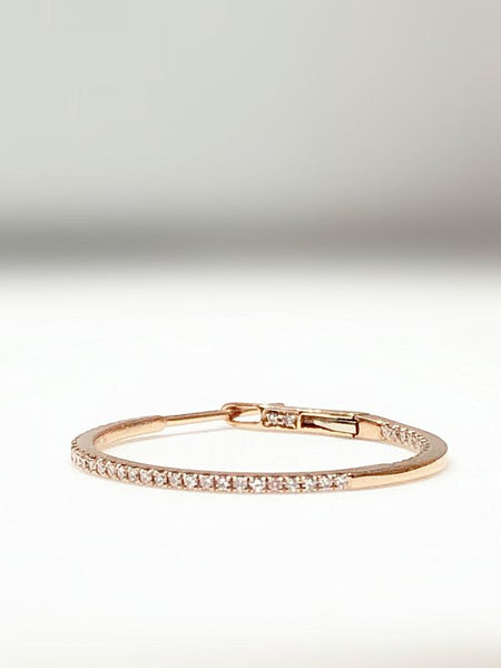 La Liberta Brilliant Hoops 18K Rosegold mit Brillianten 0,38CT
