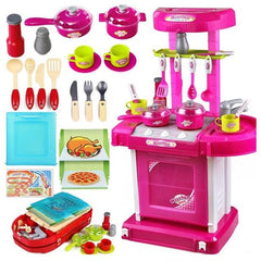 Portable Kids Kitchen Cooking Play Set